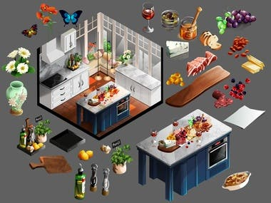 GAME ASSET -interior design