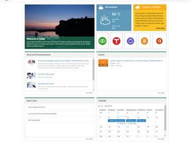 Responsive Intranet Portal