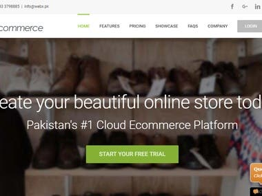 WebX ECommerce Website Application