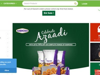 Online Grocery Store In Pakistan Website Application