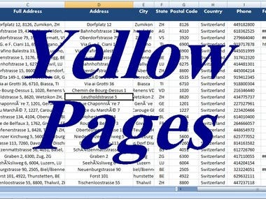scrape email with database from Yellowpages