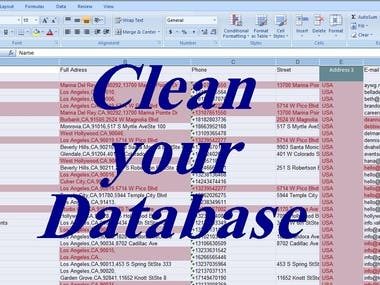Clean your database