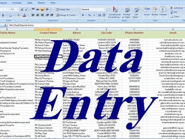 I will do data entry