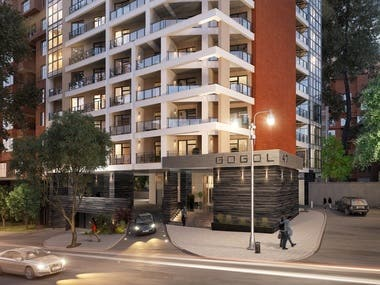Exterior visualisations of residential complex