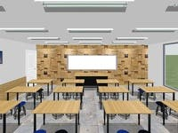 design a modern classroom with our stool and tables