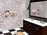 Bathroom wall mosaic design