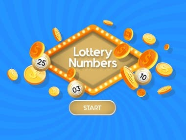 "3D HTML Game ""Lottery Numbers"""