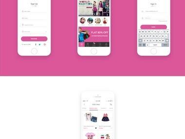 Shop Cart App UX/UI