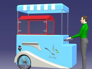 Food Cart (Body and frame design)