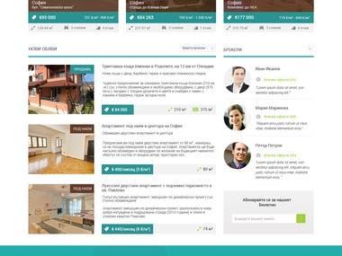 Web and logo design for Bulgarian Estates