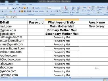 Excel Sheet Work