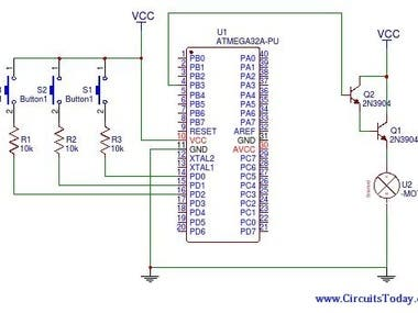 DC motor control with PWM & PROTEUS SIMULATION