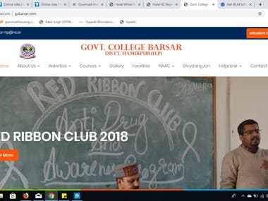Government College WEBSITE