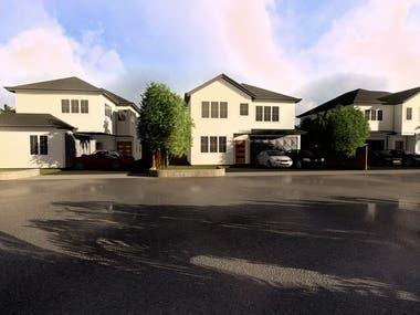 3 houses