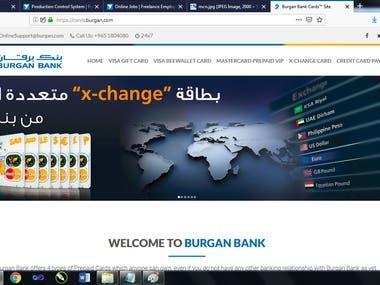 Burgan Bank Kuwait Prepaid Card site