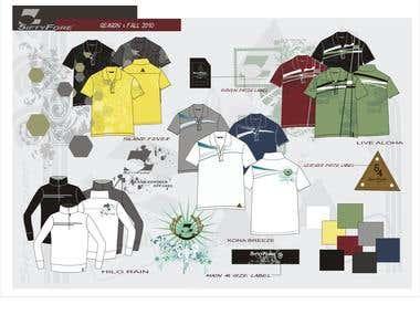 Clothing Line Presentation and Line Sheet Design