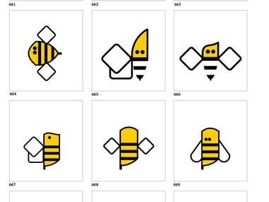 Logo design - Bee