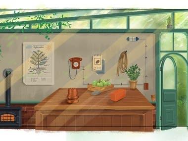 Concept design - Farm background