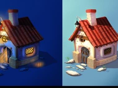 Digital Painting - House