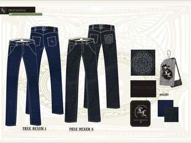Denim Jeans Design and Tech Packs