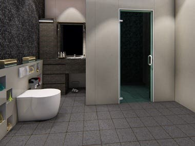Remodeling of a bathroom