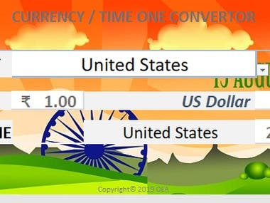 World Currency & Time converter