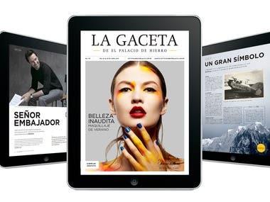 """EDITORIAL & MULTIMEDIA """"LA GACETA"""" EL PALACIO DE HIERRO"""