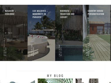 Website creation for a french architect