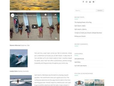 Website creation - Saltihearts.com