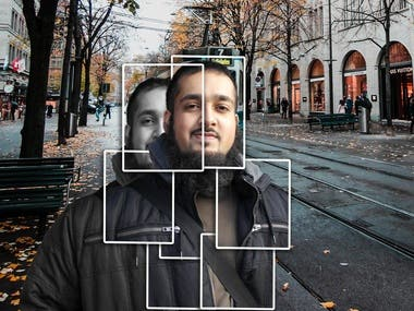 Tile effect on the photo