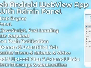 LiveWeb Android WebView App With Admin Panel