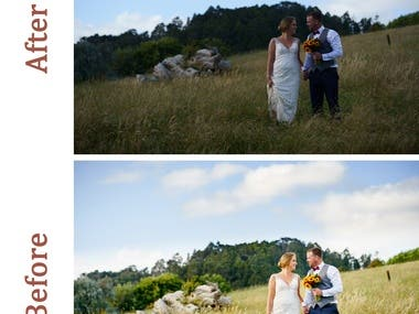 Photo editing in Lightroom - example on part of one wedding