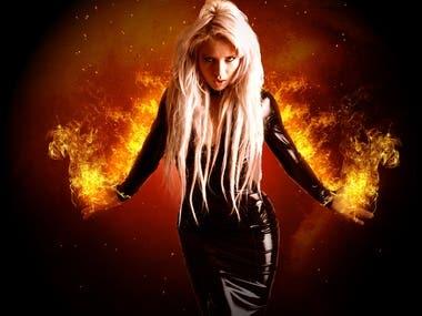 Flames effect