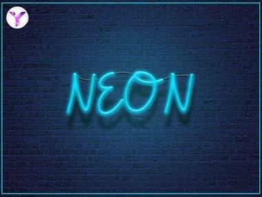 Title neon light effect