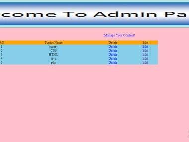 HTML ,CSS,PHP and MYSQL