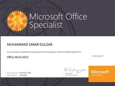 Microsoft Office 2013 Specialist