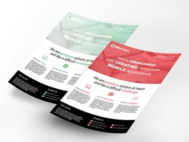one page Flyer/Brochure Design for Corporate Business