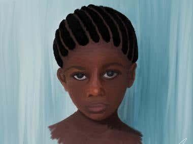 Hand drawn realistic portrait