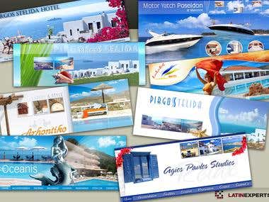 Headers & Banners for Greek Hotels