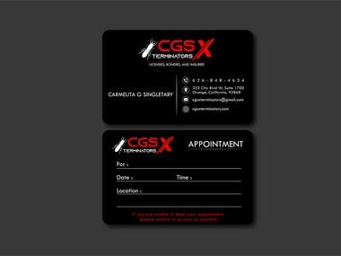 CGS X Terminator Business Card