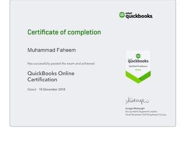 Quickbooks Online ProAdvisor Basic