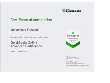 Quickbooks Online Advanced ProAdvisor