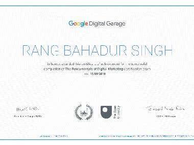 Digital Marketing Google Certificate