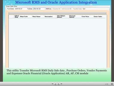 MS RMS to Oracle APP