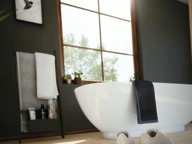 Bathroom furniture renderings