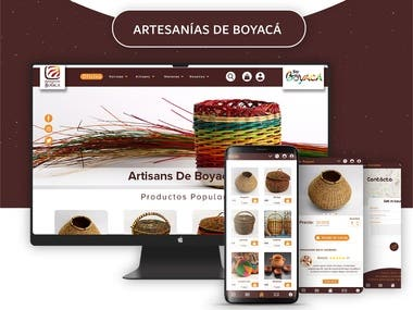 Artesanías de Boyacá (Website & Mobile Apps)