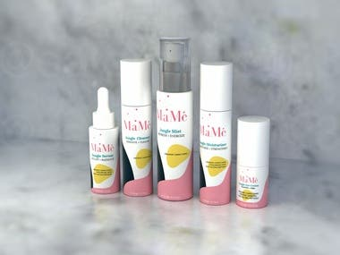 3D Mockup for Cosmetic and Healthcare Products