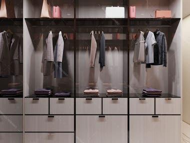 Interior - Modern Dressingroom