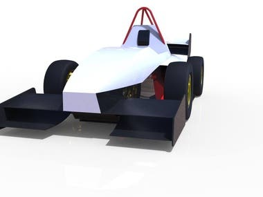 Surface design of a race car type F1