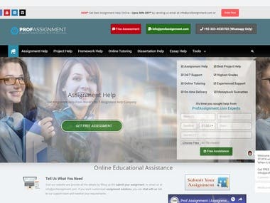 Prof Assignment Company Website